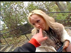 She pleases thick cock outdoors