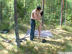 Hidden camera films forest sex