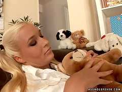 Divine blondie takes that huge cock with love