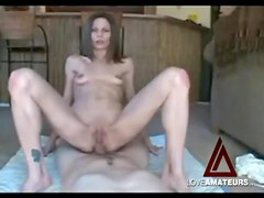 Wicked skinny babe has anal sex on camera