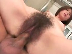 Close up on a creampie in her Japanese vagina
