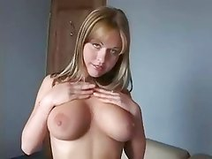 Young woman spreads and masturbates