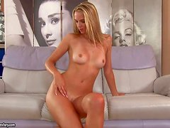 Anita is a really beautiful young blond babe with perky