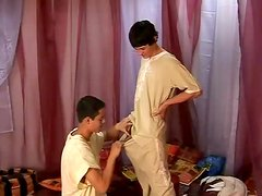 Twink blowjob and bareback in missionary