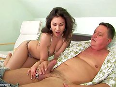 Patricia Dream is one naughty dark haired young girl that