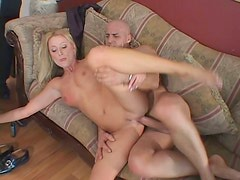 Bick cock drills Sue Peavy while her boyfriend sits and watches