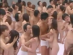 The crazy Japanese have an unbelievable orgy indoors