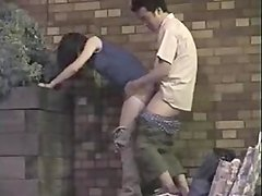 Japanese dude fucks his GF in front of a hidden cam