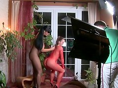 Backside the Scene! Silvia's Nice brown hole Being Slapped By Carmen!