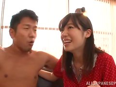A few pretty Japanese chicks get stunningly fucked during an orgy