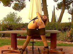 Licentious bimbo Chrissie Summers goes out of control from the taste of the big black