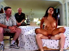 Watching his big titty wife have cheating sex