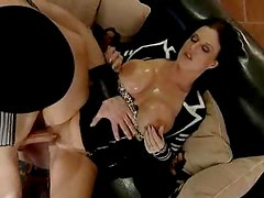 Milf with big titties takes him in her cunt