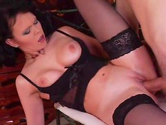 Shaved vagina milf is hot and horny