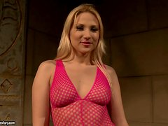 Lewd blonde Ary lets Katy Parker do all what she wants with her body