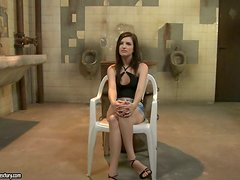 Ann Marie La Sante gets punished in a public bathroom