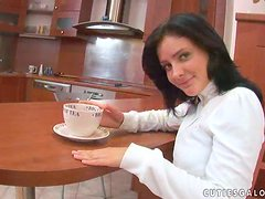 Dark-haired bitch Deja demonstrates the way she pleases herself