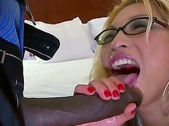Feliz - Lucky dude Sean Michaels is drilling his beautiful girlfriend in glasses, that has big boobies and nice