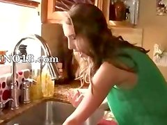Babe can wash dishes but must loving