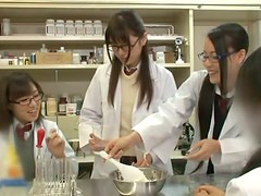 Chemistry class experiment with a cum