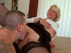 Mature in stockings loves a good fuck