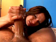 Hot and turning you on with her hands