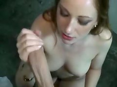Girl with creamy pussy paid to take cock