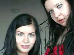 Two ugly Czech bitches are going dirty on cam