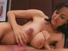 Screwed pussy and asshole of Latin mature Adrianna get tongue fucked