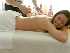 Naked massage ends in slippery sex