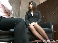 Miku Sunohara the pretty office chick gets pounded