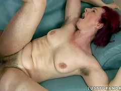 Debra is a fuck hungry red-haired mature woman with bushy