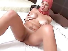 Another Arab milf sucks and fucks