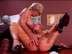 Mature teacher pleases young pussy