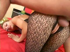 Latina in body stocking appreciates big cock