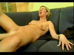 Shaved German pussy fisted deep