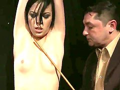 House of wax. Staring Melissza. This is a must for everyone out there into hardcore BDSM action. This black haired babe looks