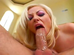 Annette Schwarz gags on cock before Anal banging
