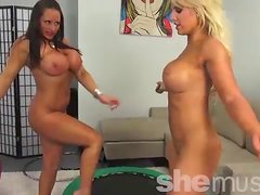 Megan Avalon and Nikki Jackson Getting Bouncy 2