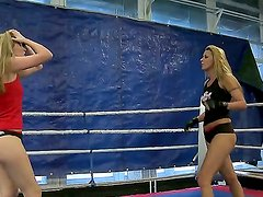 Watch these cool divas Cindy Hope and Sophie Moone wrestling and you would become aroused.
