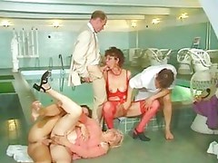 Granny and grandad pussy pump party