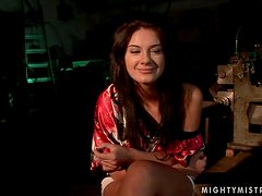 Mandy Bright fists and toys Sorana's sweet vag in hot BDSM clip