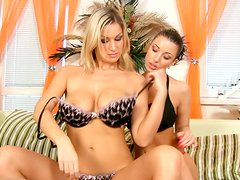 Busty hot Ashley is too mad about eating wet juicy pussy of spoiled chick