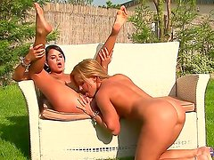 Cute teens, Sasha Cane and Salome are totally crazy for each others touch and they occasionally