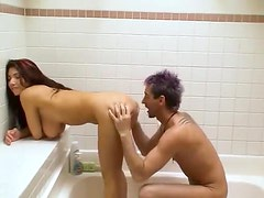 Couple makes porn movie in the shower