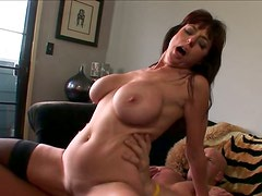 Mature woman with well-matured boobs rides her man silly