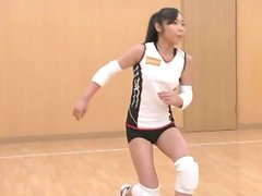 Japanese hottie lets some guys shave her snatch and play with it