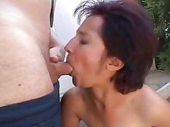 Horny Mature opening her Hairy Pussy for fucking