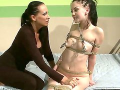 Awesome skinny girl with big titties Mandy Bright is being fucked hard by her sweet girlfriend