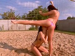Beautiful girls Macy Luna Gold and Regina Moon got their sweet swimsuits on and